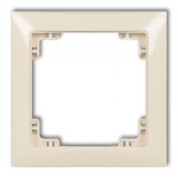 KARLIK DECO Ramka uniwersalna pojedyncza DECO Soft beżowy 1DRSO-1