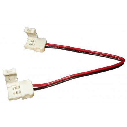 Złączka click dwustronna 2 PIN 8mm do taśm LED jednokolorowych