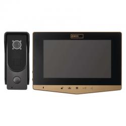 EMOS WIDEODOMOFON EKRAN LCD KOLOROWY DRZWI+BRAMA+INTERKOM IP44 H2031 (H2030 - złoty)