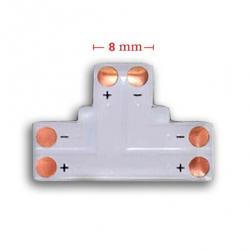 Złączka typ T 2 PIN 8mm do taśm LED jednokolorowych