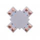 Złączka krzyżowa 2 PIN 8mm do taśm LED jednokolorowych