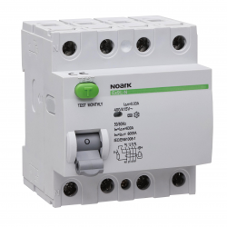 NOARK Wyłącznik różnicowoprądowy RCCB 4P 25A 0,03A typ AC Ex9L-N 108331