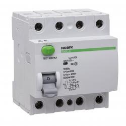 NOARK Wyłącznik różnicowoprądowy RCCB 4P 40A 0,03A typ AC Ex9L-N 108332