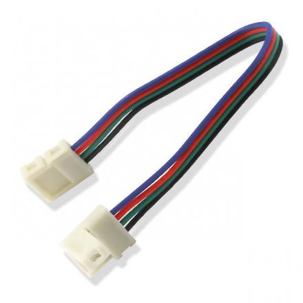 Złączka click dwustronna 4 PIN 10mm do taśm LED wielokolorowych