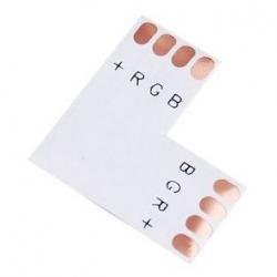Elektro Złączka kątowa 4 PIN 10mm do taśm LED wielokolorowych