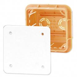 ELEKTRO-PLAST Puszka instalacyjna P/T 76×76 z pokrywą IP40 pomarańczowa 11.1