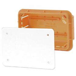 ELEKTRO-PLAST Puszka instalacyjna P/T 76×116 z pokrywą IP40 pomarańczowa 11.2