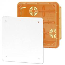 ELEKTRO-PLAST Puszka instalacyjna P/T 126×126 z pokrywą IP40 pomarańczowa 11.5