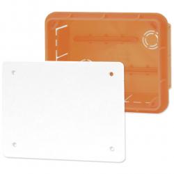 ELEKTRO-PLAST Puszka instalacyjna P/T 96×126 z pokrywą IP40 pomarańczowa 11.4