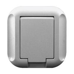 TIMEX TOPAZ Gniazdo pojedyncze podtynkowe +0 IP44 GPT-16TH srebrne
