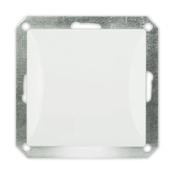 TIMEX OPAL Wyłącznik pojedynczy do ramki przycisk podświetlany biały WP-1/S/m Op BI
