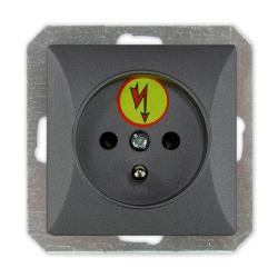 TIMEX OPAL Gniazdo pojedyncze ANTYPRZEPIĘCIOWE Z/U do ramki grafitowe GPt-16/Z/m Op GR