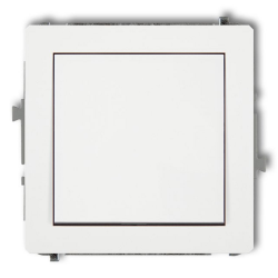 """KARLIK DECO Przycisk łącznik zwierny pojedynczy """"dzwonek"""" do ramki BEZ PIKTOGRAMU biały DWP-4.1"""