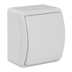 KOALA Łącznik pojedynczy natynkowy wodoodporny IP44 biały