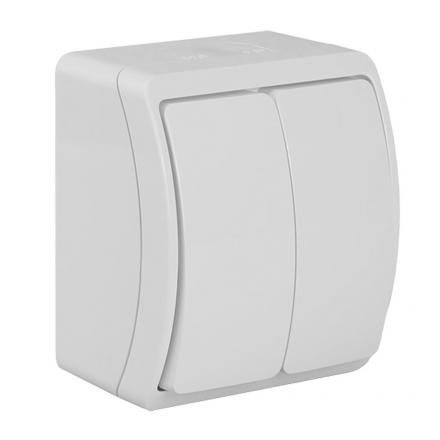 KOALA Łącznik świecznikowy natynkowy wodoodporny IP44 biały