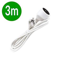 EMOS Przedłużacz 1-gniazdowy z uziemieniem 10A 230 V~ biały 3m P0113