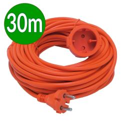 [OUTLET] BEMKO Przedłużacz jednogniazdowy uniwersalny b/u 10A 250V~ pomarańczowy 30m BI013