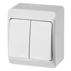 Elektro-Plast HERMES Łącznik podwójny natynkowy IP44 biały 0332-02