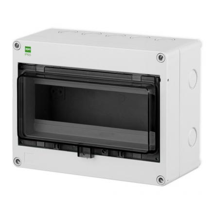 Elektro-Plast Rozdzielnica natynkowa HERMETICA RN-1x8 IP65 szara 2204-01