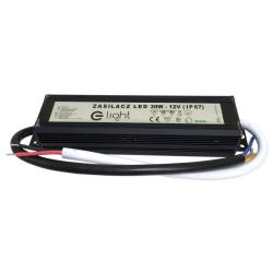 E-LIGHT Zasilacz hermetyczny IP67 2,5A / 30W 12V LED CCTV RTV