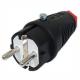 PCE Wtyczka hermetyczna gumowa IP54 z uziemieniem UNI-SCHUKO 16A 250V 521-sr