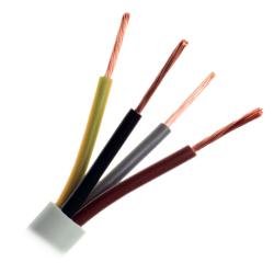 ElektroKabel Przewód warsztatowy linka H05VV-F OWY 4x0,75 mm² 500V biały 1mb