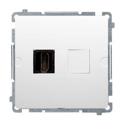 SIMON BASIC Gniazdo telewizyjne HDMI do ramki białe BMGHDMI.01/11