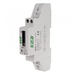F&F Licznik energii elektrycznej na szynę cyfrowy 1F 5(45)A WZE-1