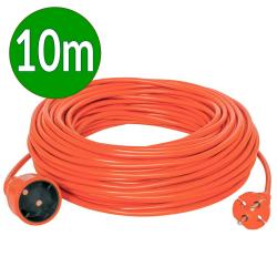 PLASTROL Przedłużacz jednogniazdowy ogrodowy b/u 10A 250 V~ pomarańczowy 10m W-99032