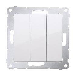 SIMON 54 Przycisk łącznik zwierny potrójny do ramki biały DP31.01/11