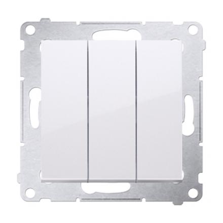 SIMON 54 Przycisk łącznik zwierny podwójny do ramki biały DP31.01/11