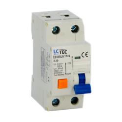 LC Wyłącznik różnicowo-nadprądowy 1P+N B20A 0,03A typ AC EBS9BLN