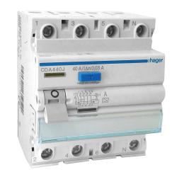 HAGER Wyłącznik różnicowoprądowy 4P 40A 0,03A typ A CDA440J