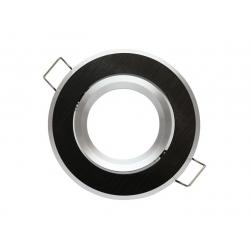 Oprawa oprawka halogenowa okrągła ruchoma ALU czarna