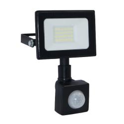 ECOLIGHT Naświetlacz wodoodporny IP65 LED 20W 230V z CZUJNIK RUCHU barwa zimna