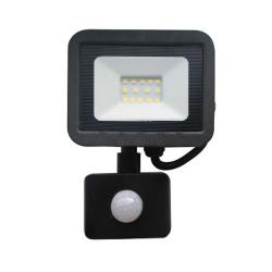 ECOLIGHT Naświetlacz wodoodporny IP65 LED 10W 230V z CZUJNIK RUCHU barwa zimna