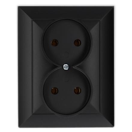 TIMEX OPAL Gniazdo podwójne w kolorze czarnym matowym