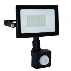 ECOLIGHT Naświetlacz wodoodporny IP65 LED 50W 230V z CZUJNIK RUCHU barwa zimna
