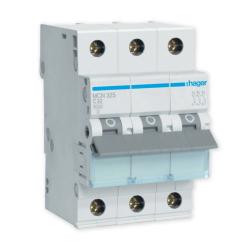 HAGER Wyłącznik nadprądowy 3P C32A MCN332E