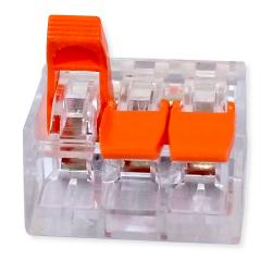 LC Szybkozłączka uniwersalna 3x0,2-4mm² transparentna ZP603 1szt.