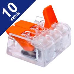 LC Szybkozłączka uniwersalna 3x0,2-4mm² transparentna ZP603 10szt.