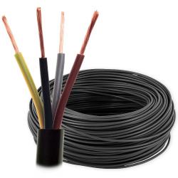 Przewód warsztatowy linka H05RR-F OW 4x1,5 mm² 500V guma czarny rolka 100mb