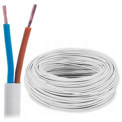 Przewód mieszkaniowy linka H03VV-F OMY 2x1,0mm² 300V biały 100mb