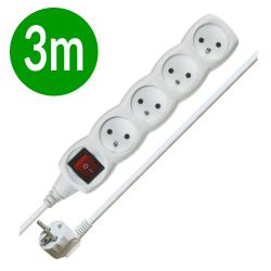 EMOS Przedłużacz 4-gniazdowy z wyłącznikiem z/u 10A 230 V~ biały 3m
