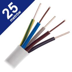 Przewód instalacyjny drut YDY 5x4mm² 750V 25mb
