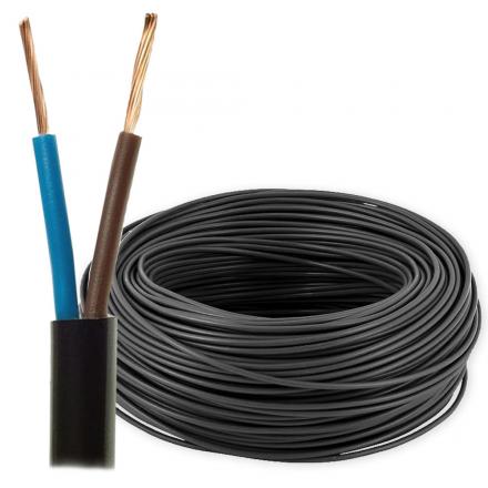 Przewód mieszkaniowy linka H03VV-F OMY 2x1,5mm² 300V czarny 100mb