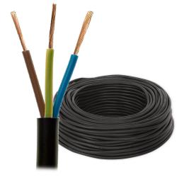 Przewód mieszkaniowy linka H03VV-F OMY 3x1,0mm² 300V czarny rolka 100mb