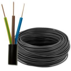 Przewód energetyczny drut YKY 3x1,5mm² 0,6/1kV czarny 100mb