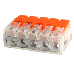 LC Szybkozłączka uniwersalna 5x0,2-4mm² transparentna ZP605 1szt.