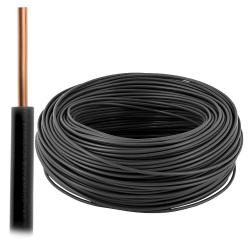 Przewód drut DY H07V-U 1,5 mm² 750V czarny 100mb